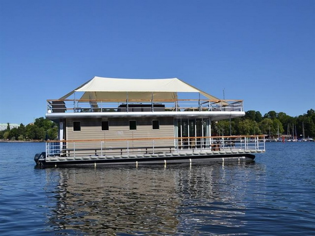 Swedish house boat located in Stockholm