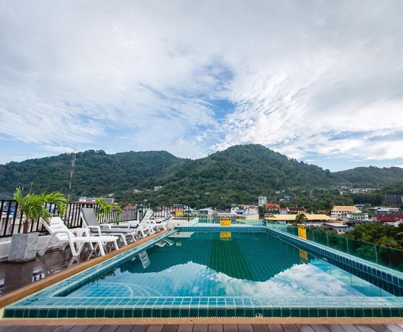 Boutique hotel in patong with rooftop pool