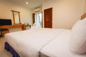 Boutique Hotel for Lease Patong with Rooftop Pool is located in a quiet location far from the crowdy area but just 5 minutes drive from the center city.