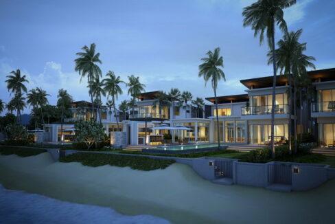 Large beach front villa at Natai Beach