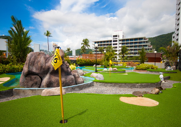 Phuket beach front mini golf course