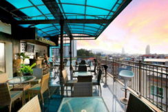 Small patong hotel with roof top restaurant